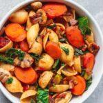 Vegan vegetable and mushroom pasta