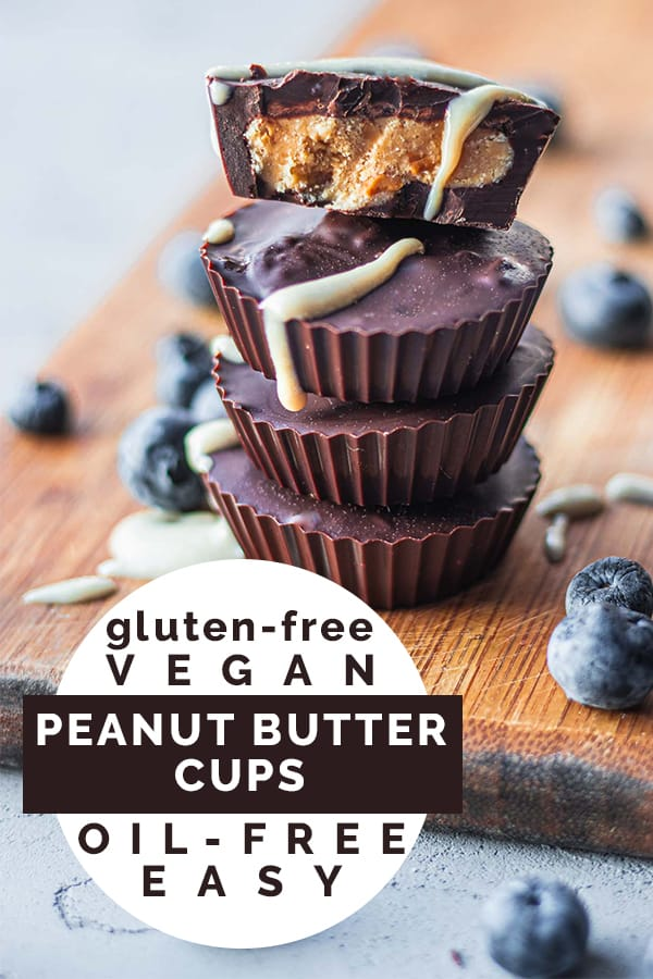 Gluten-free vegan peanut butter cups