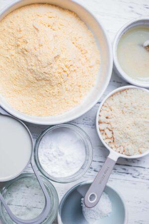 Ingredients for vegan cornbread