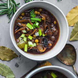 Vegan French onion soup gluten-free