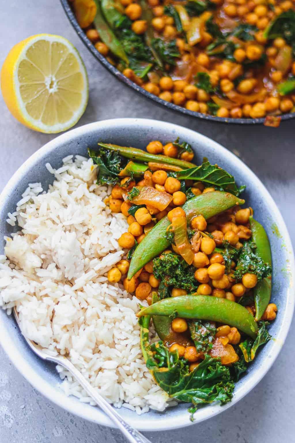 Vegan peanut chickpea curry gluten-free oil-free