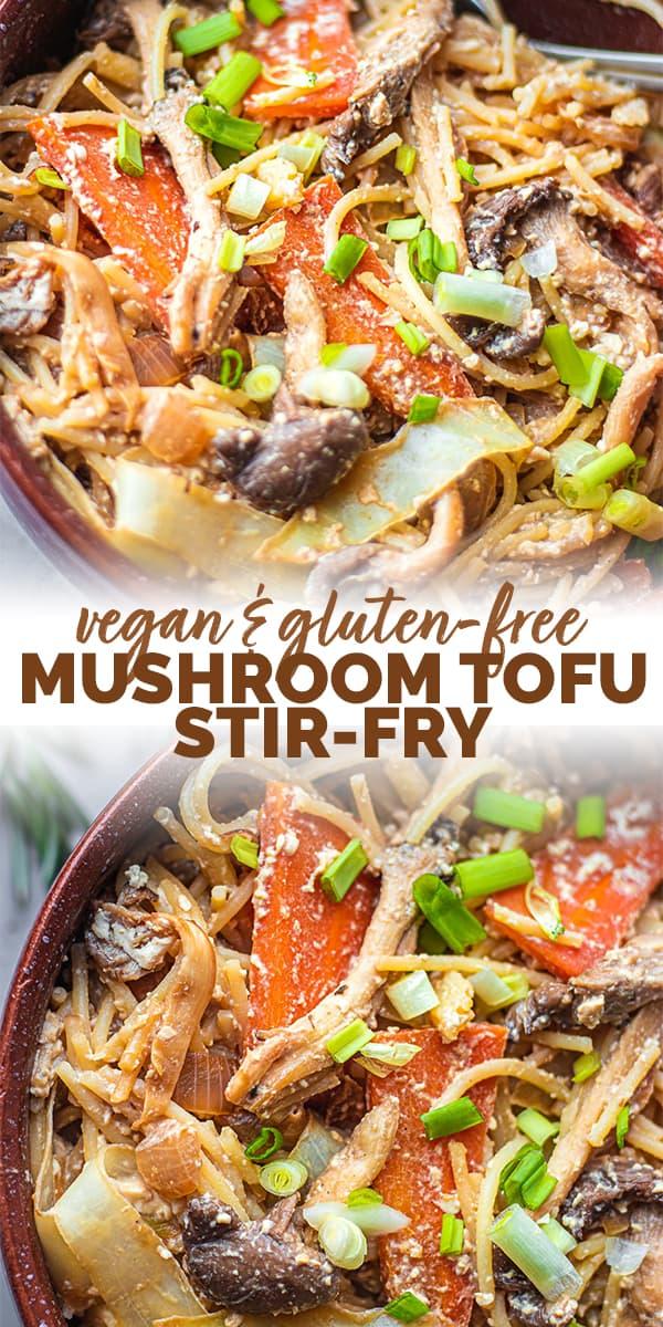 Vegan mushroom tofu stir-fry Pinterest