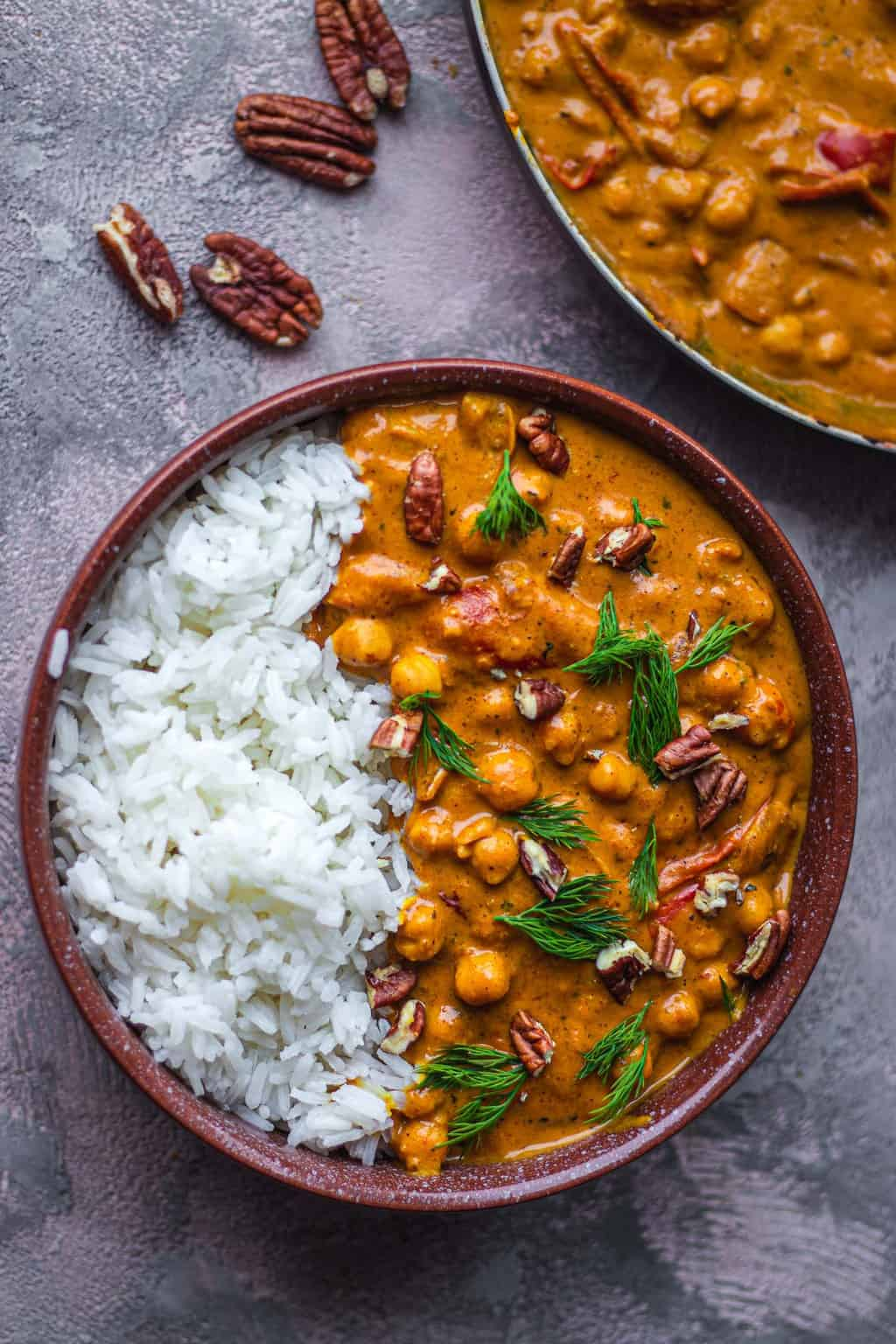 Easy vegan butter chicken butter chickpeas