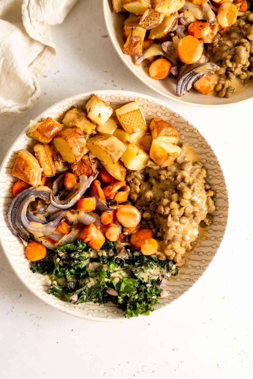 Lentil nourish bowl