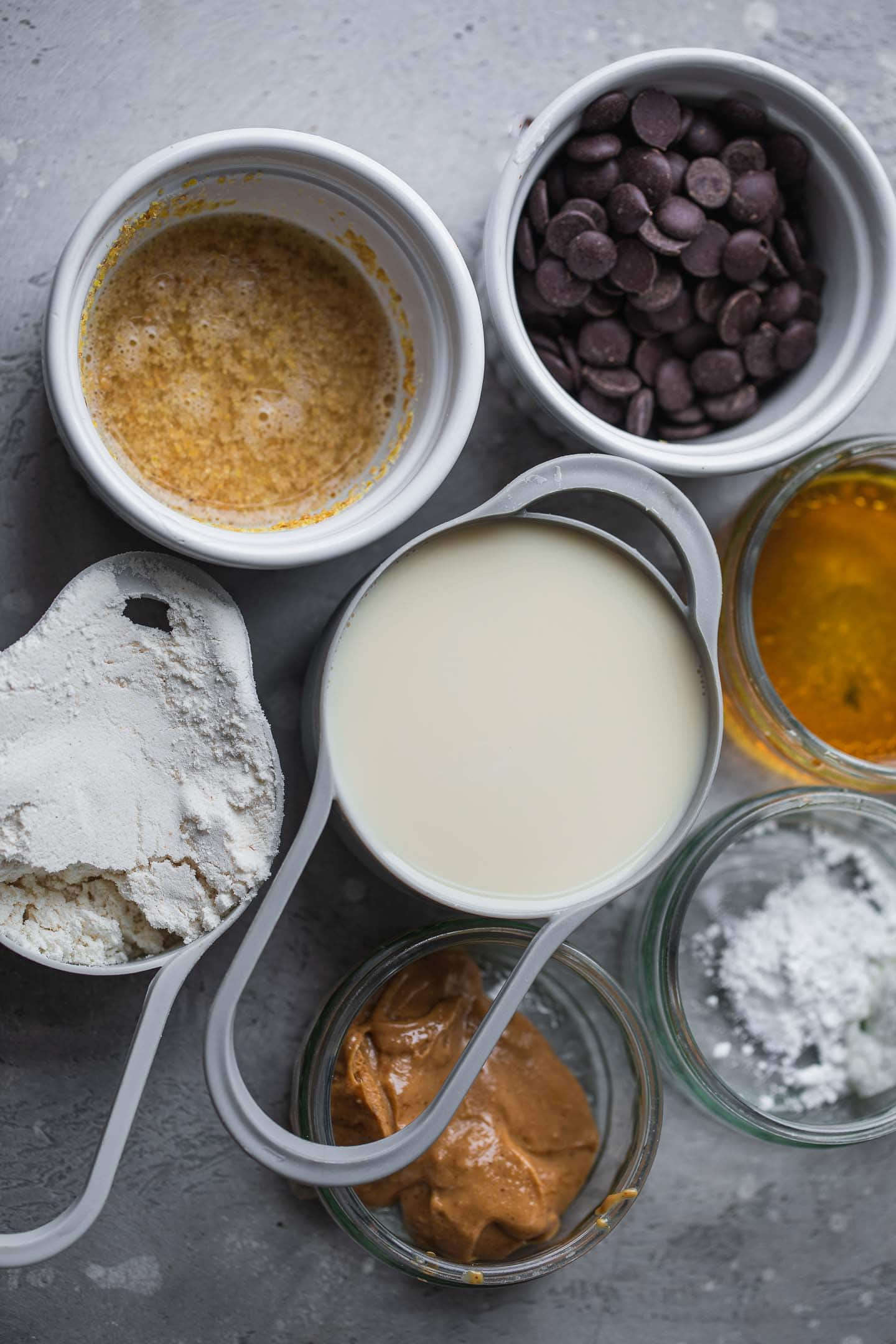 Ingredients for vegan coconut flour muffins