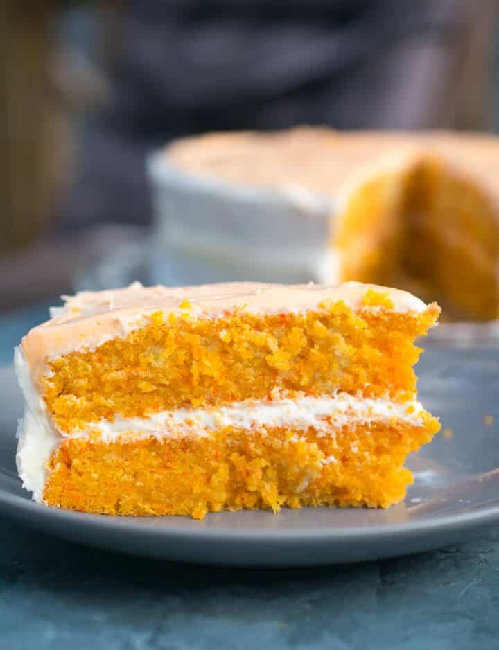 Vegan orange creamsicle cake