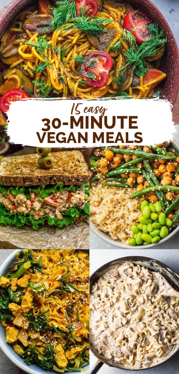 15 30 minute vegan meals