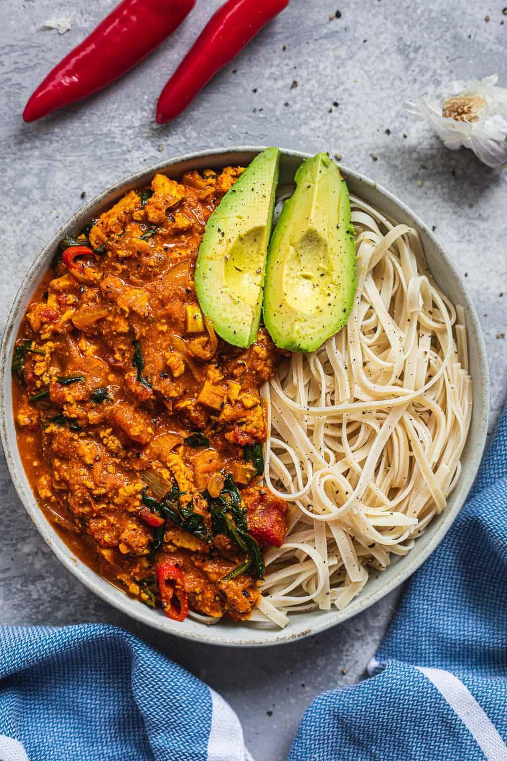 Easy vegan tofu curry gluten-free