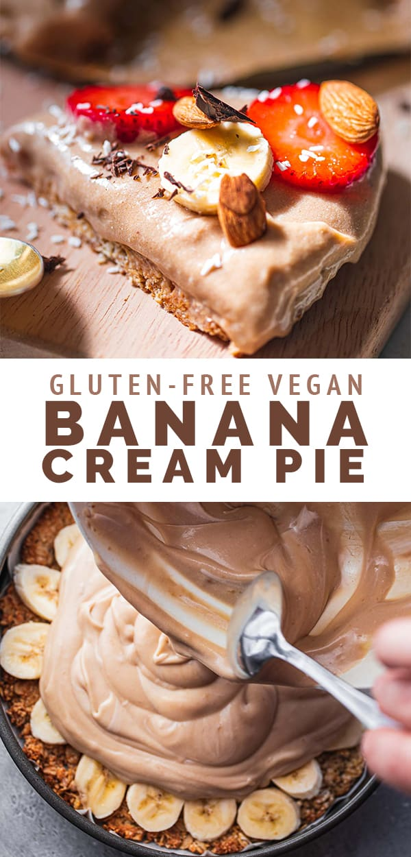 Gluten-free vegan banana cream pie