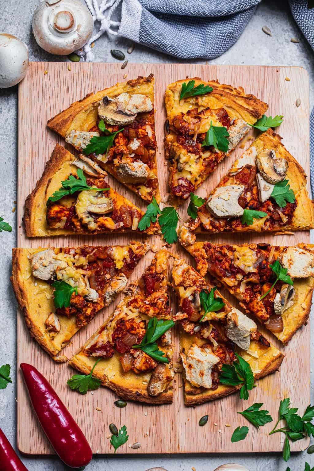 Meatless feast vegan pizza recipe gluten-free