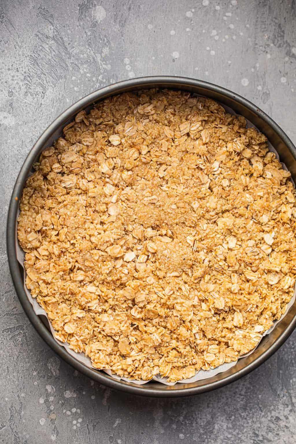 Vegan sweet pie crust before baking