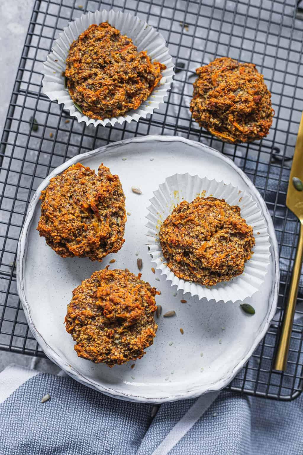 Gluten-free vegan carrot muffins