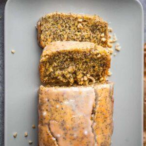 Vegan lemon poppyseed cake gluten-free