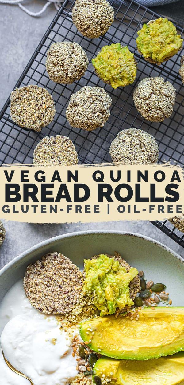 Vegan quinoa bread rolls