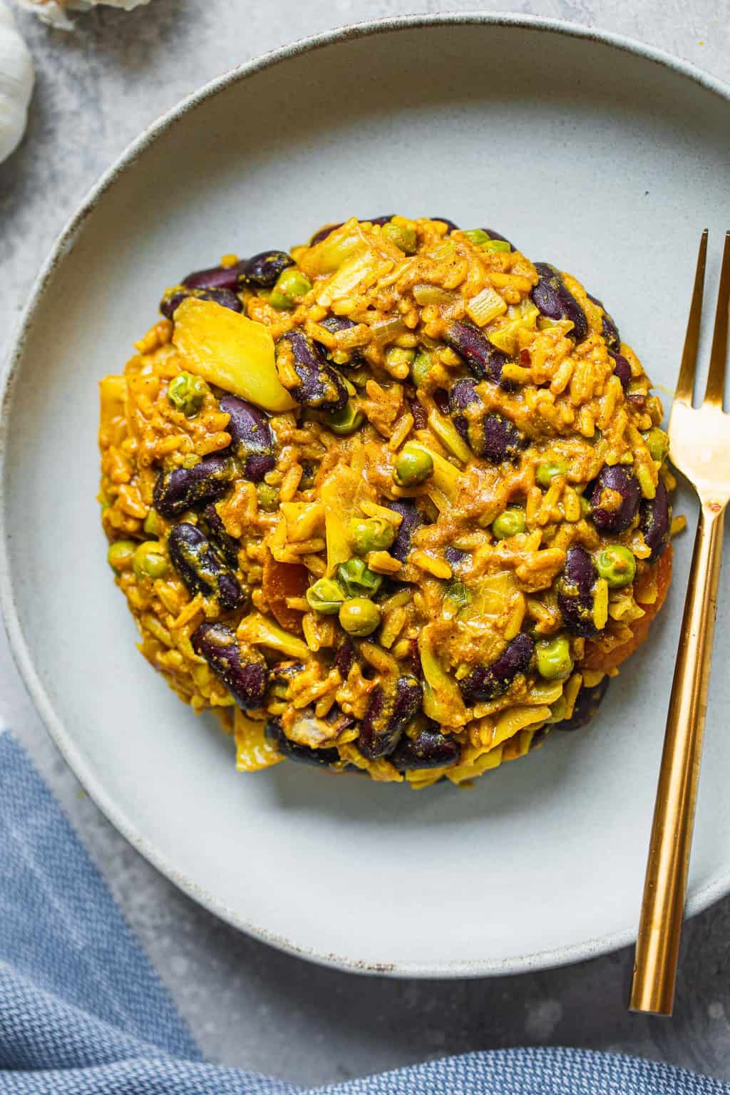 Vegan red beans and rice gluten-free oil-free