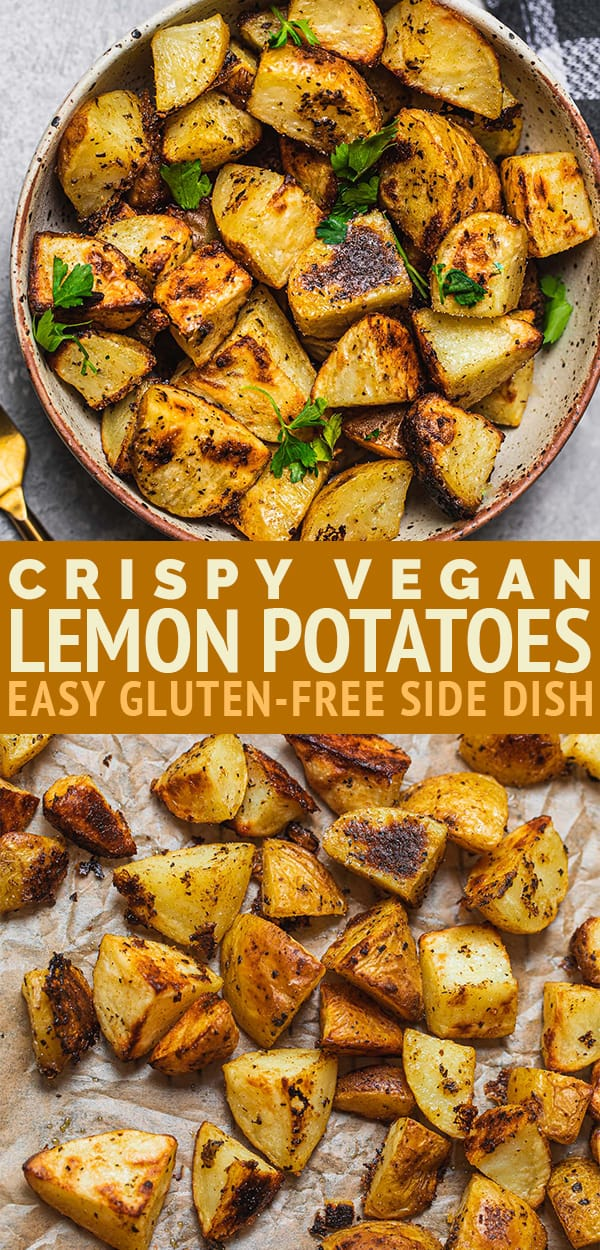 Crispy vegan lemon potatoes