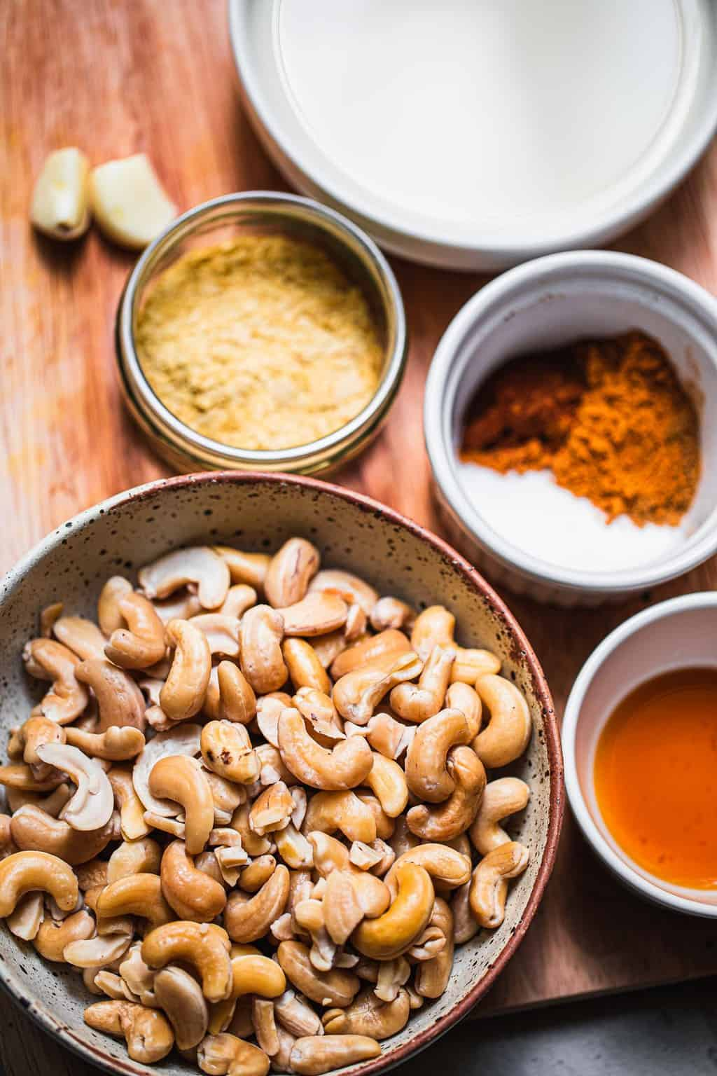 Cashew cream ingredients