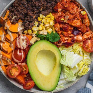 Vegan breakfast burrito bowl