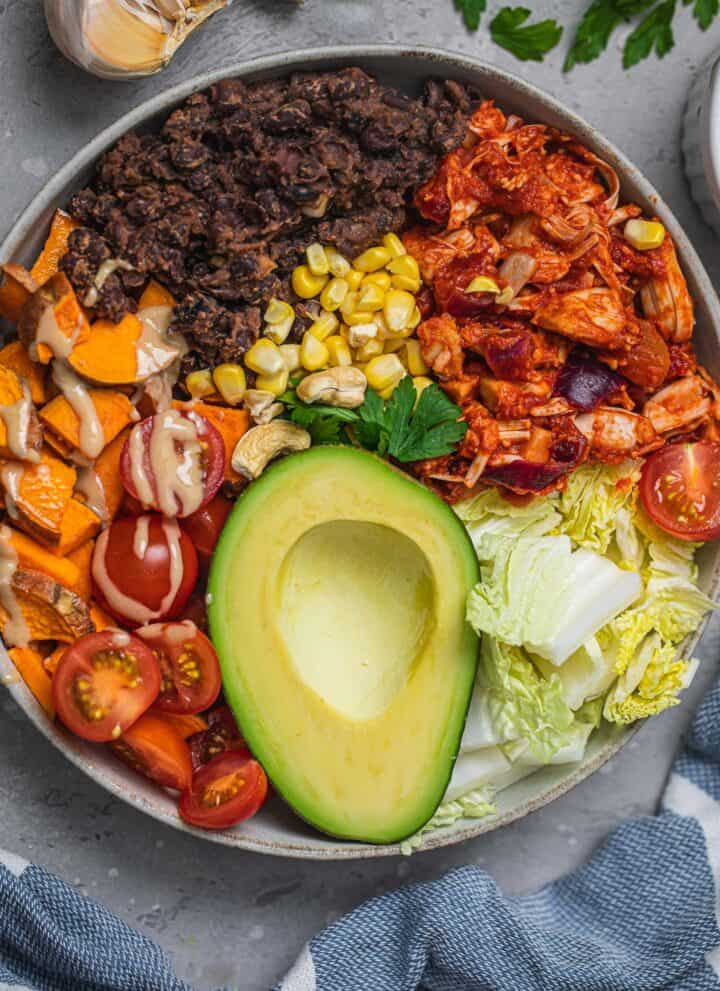 Vegan breakfast burrito bowl