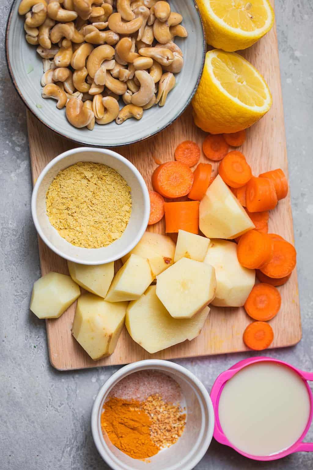 Vegan cheese sauce ingredients