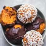 Vegan carrot cake bliss balls gluten-free oil-free