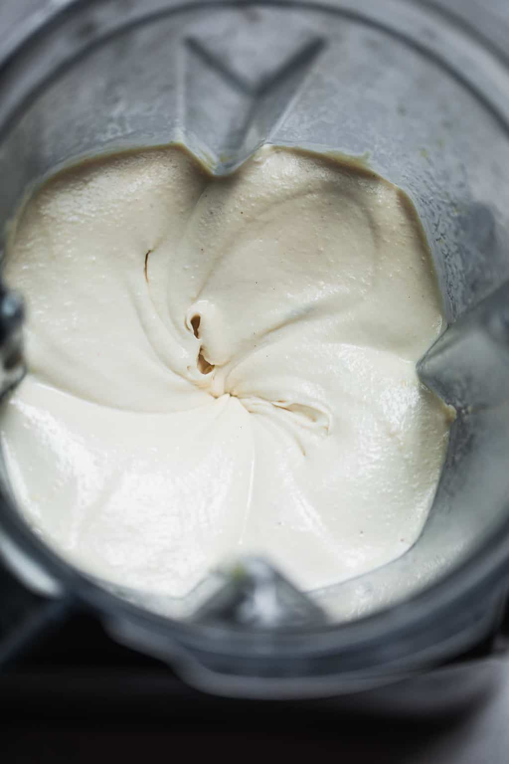 Sour cream in a food processor