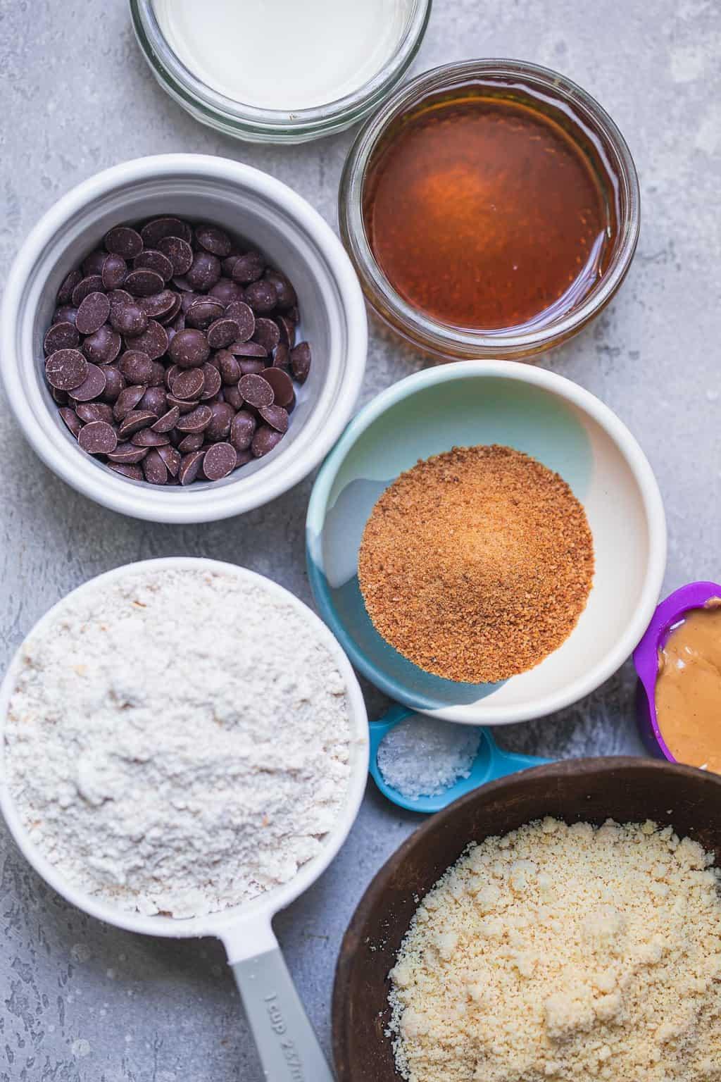 Ingredients for vegan cookie dough