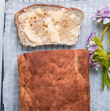 Gluten-free vegan bread with walnuts