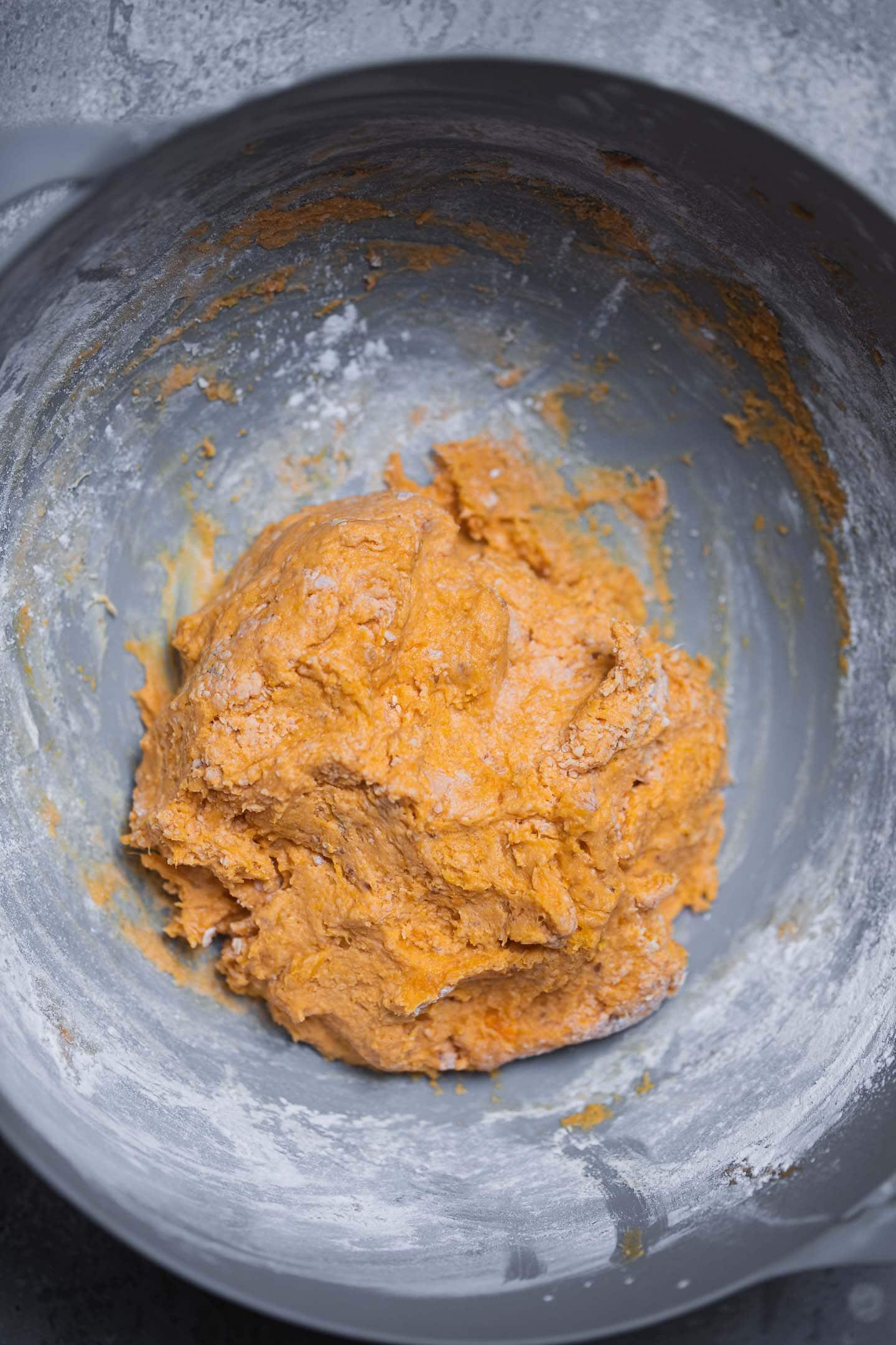 Dough for sweet potato gnocchi