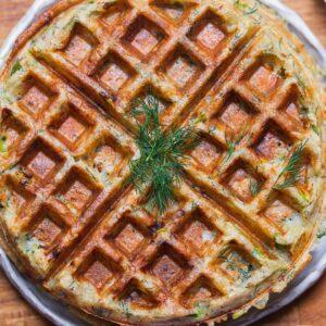 Vegan potato waffles gluten-free oil-free