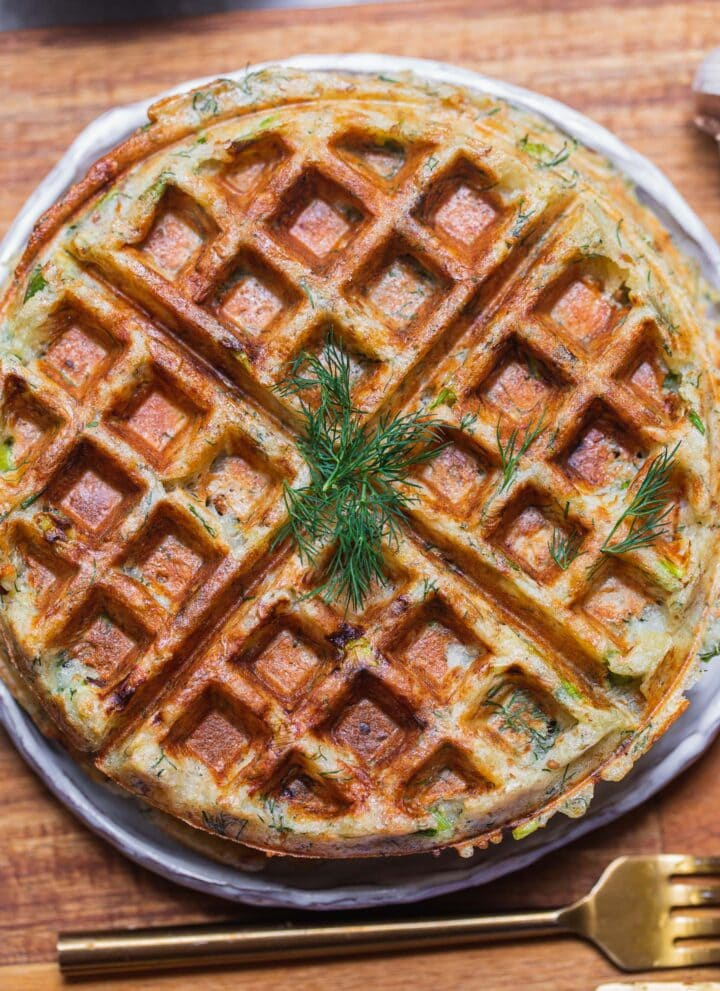 Vegan potato waffles gluten-free oil-free