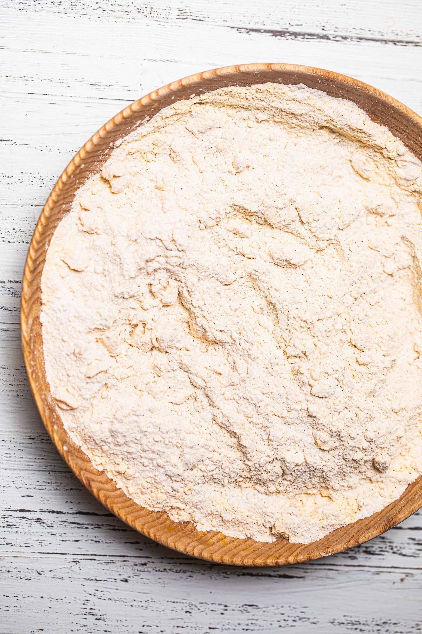 Dry ingredients for a gluten-free vegan crust