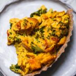 Easy vegan quiche with a gluten-free crust