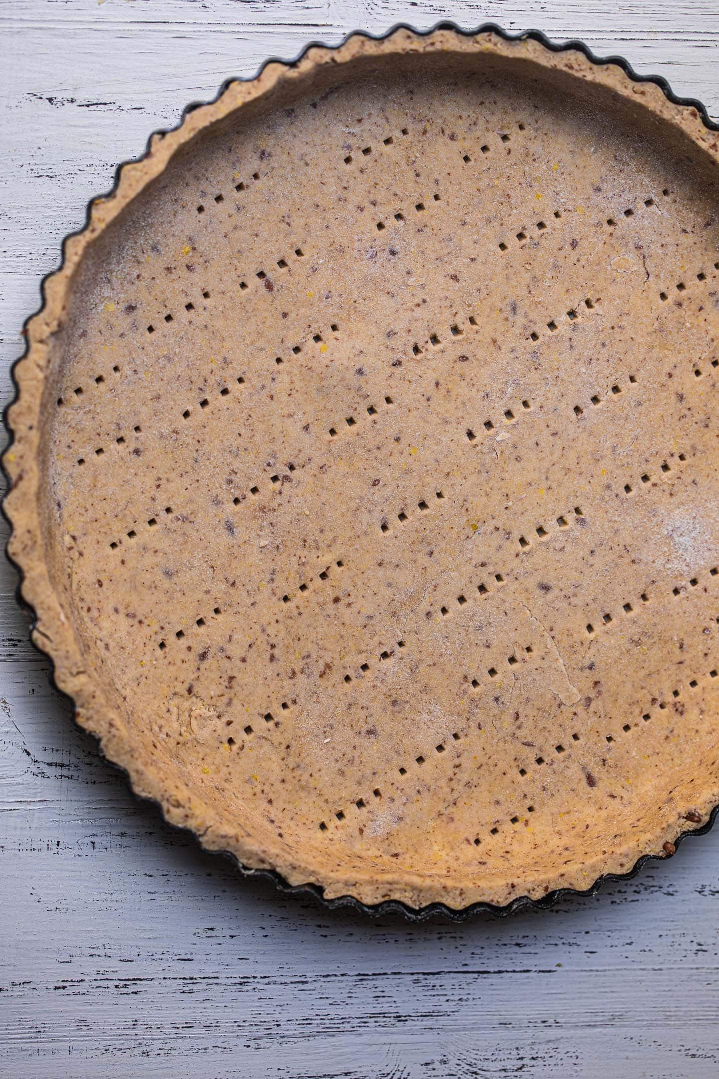 Gluten-free vegan quiche crust