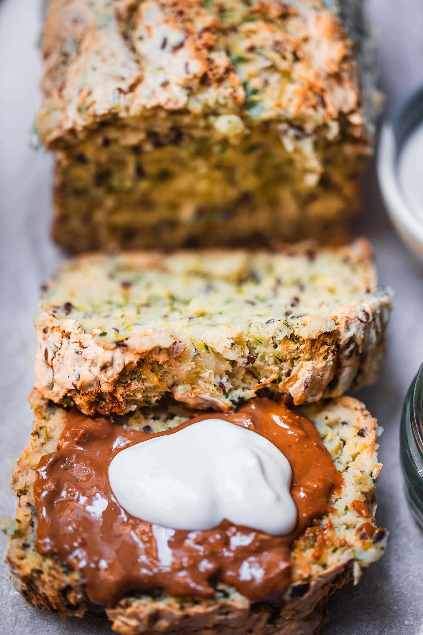 Gluten-free vegan zucchini bread
