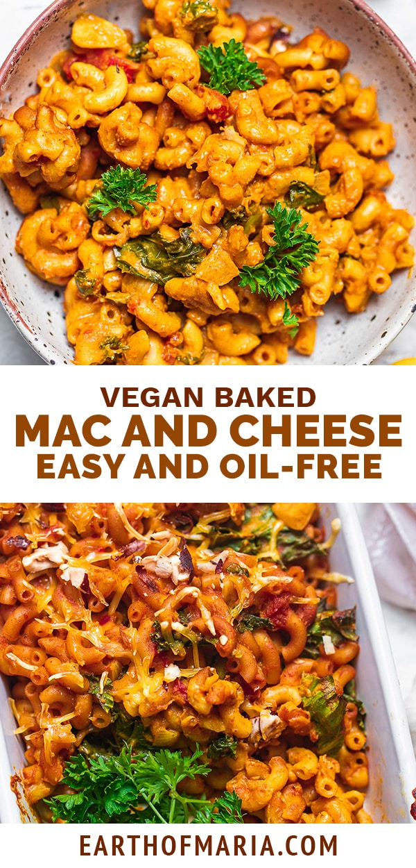 Vegan baked mac and cheese