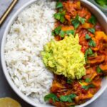 Easy vegan jackfruit curry gluten-free