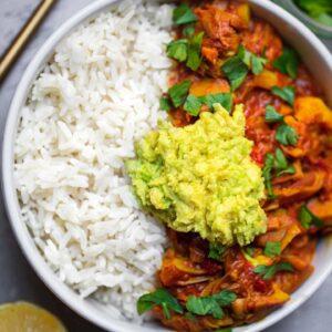 Easy vegan jackfruit curry gluten-free
