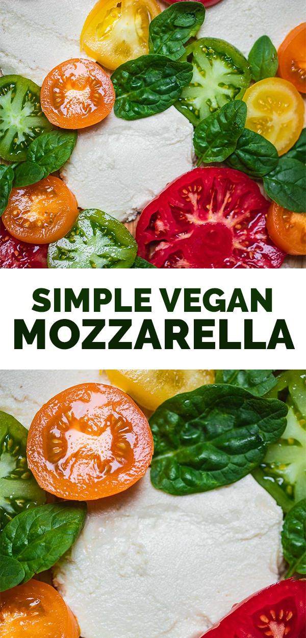 Simple vegan mozzarella