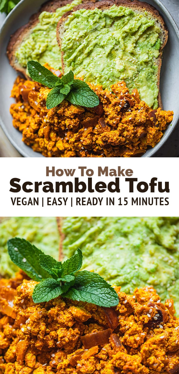 Easy vegan scrambled tofu recipe