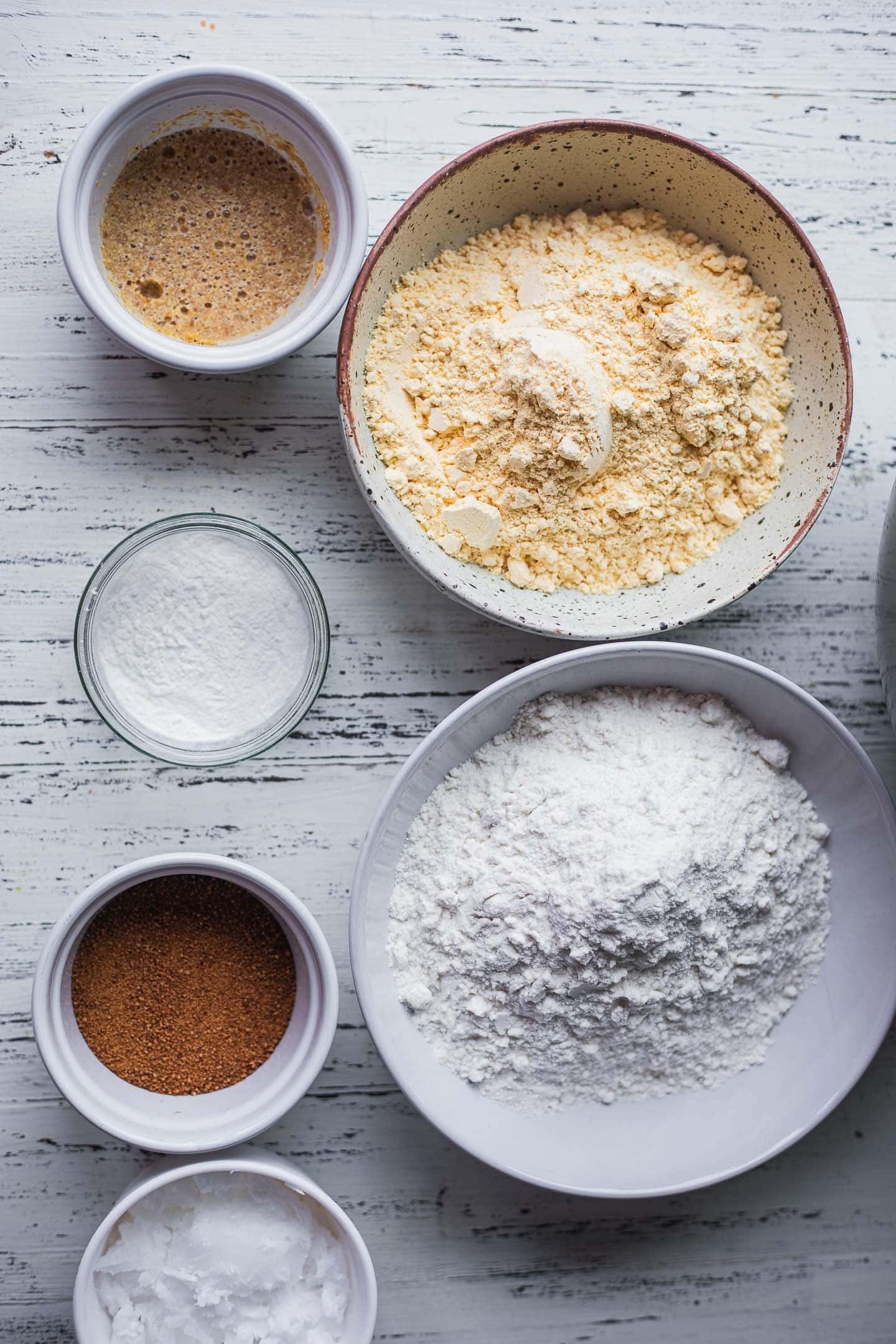 Ingredients for vegan pumpkin pie