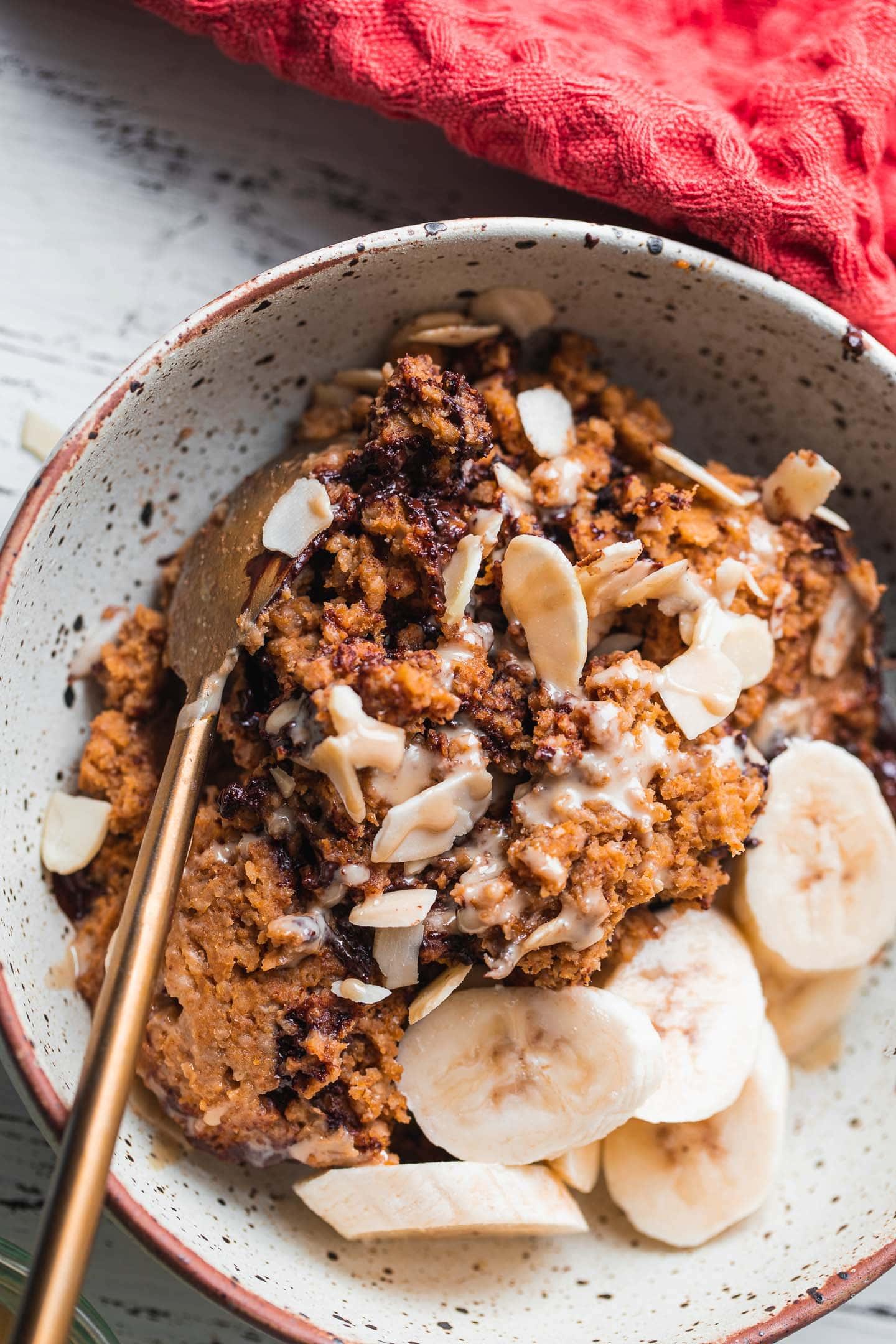Pumpkin baked oatmeal vegan