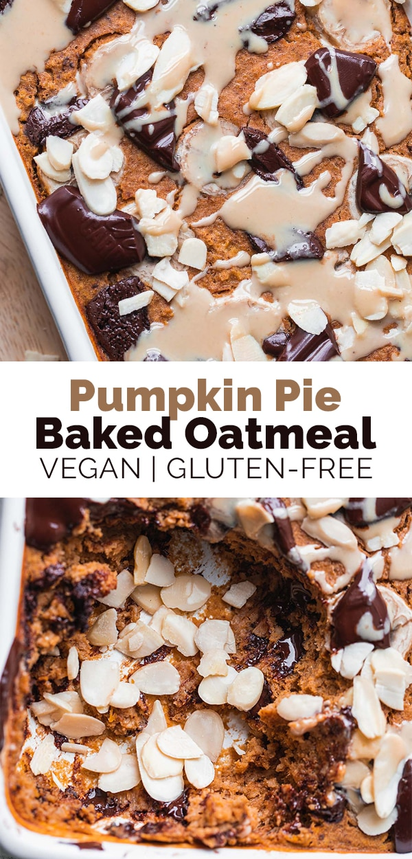 Pumpkin pie baked oatmeal vegan