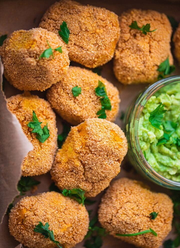Vegan chicken nuggets chickpea nuggets