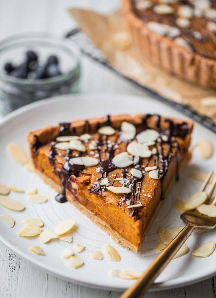 Vegan pumpkin pie gluten-free