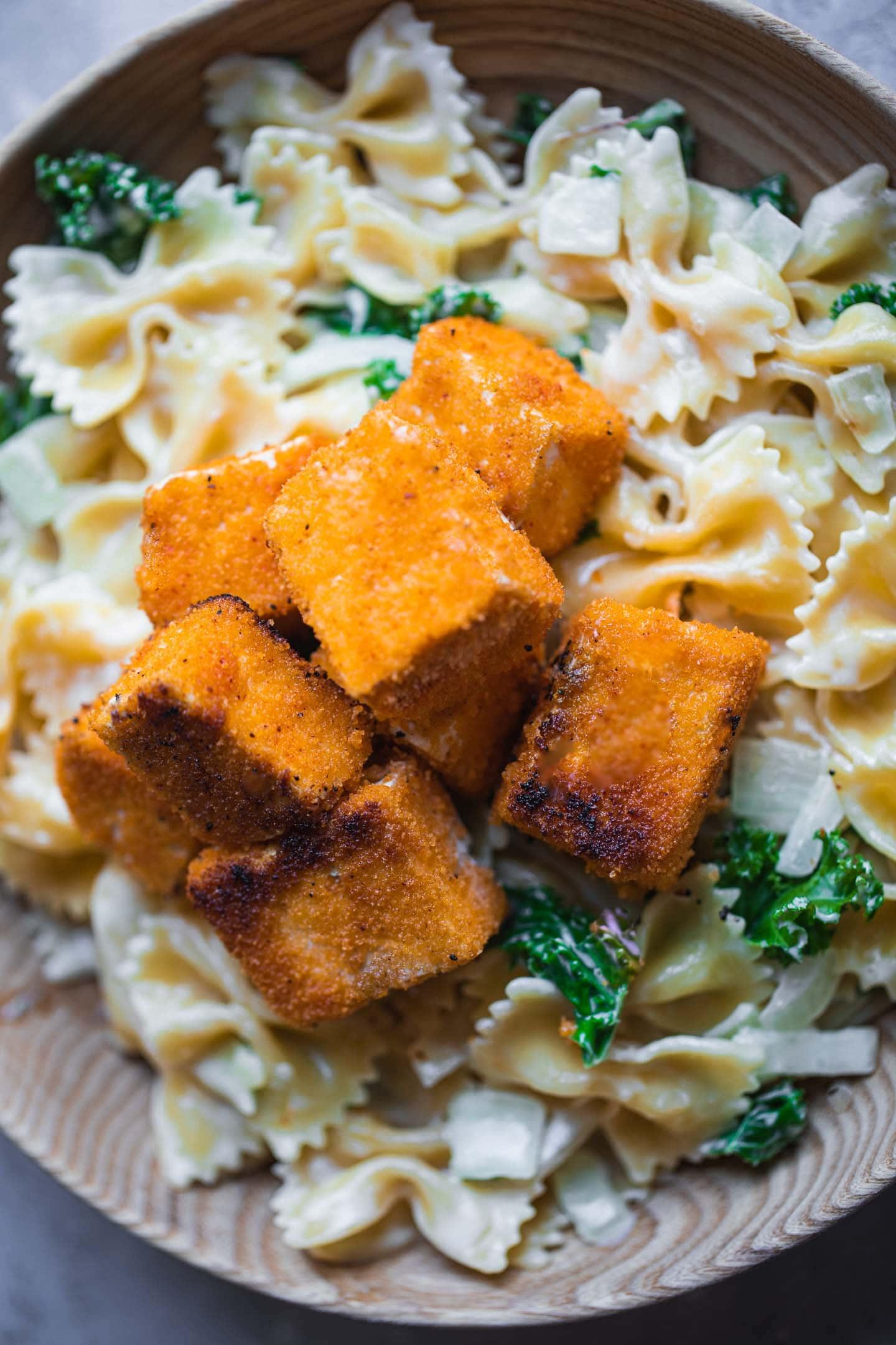 Easy vegan crispy tofu baked or fried-