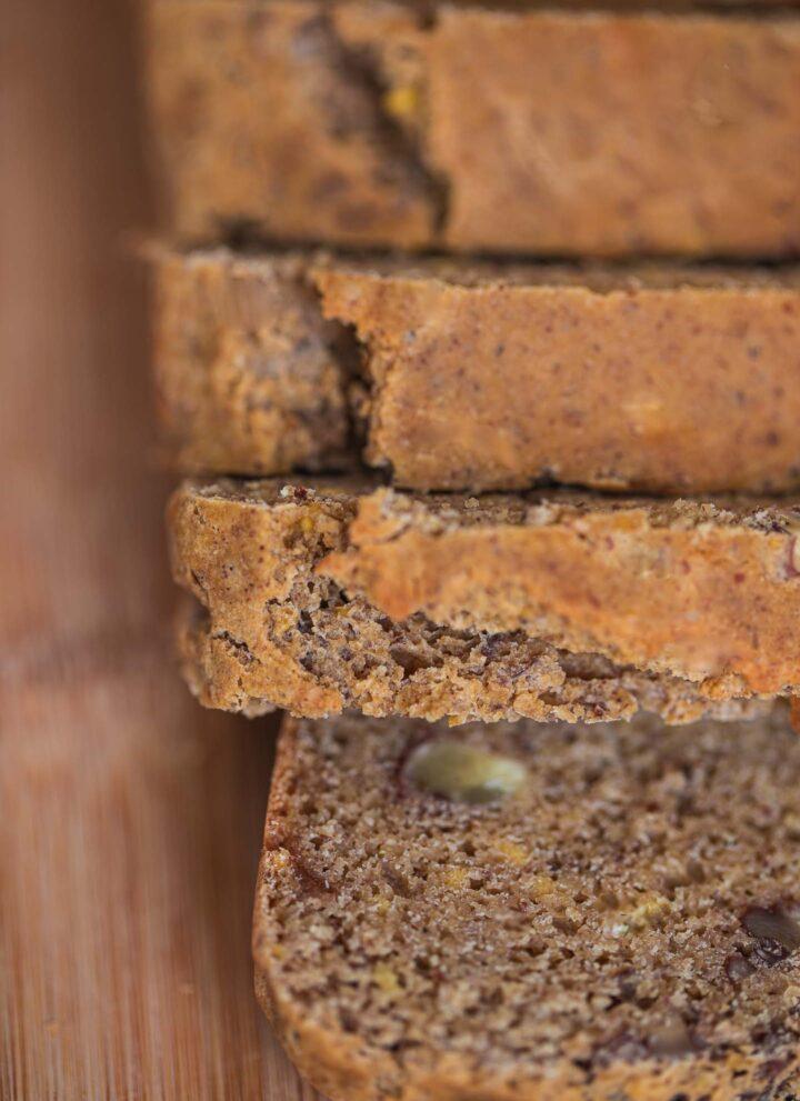 Gluten-free vegan pecan bread