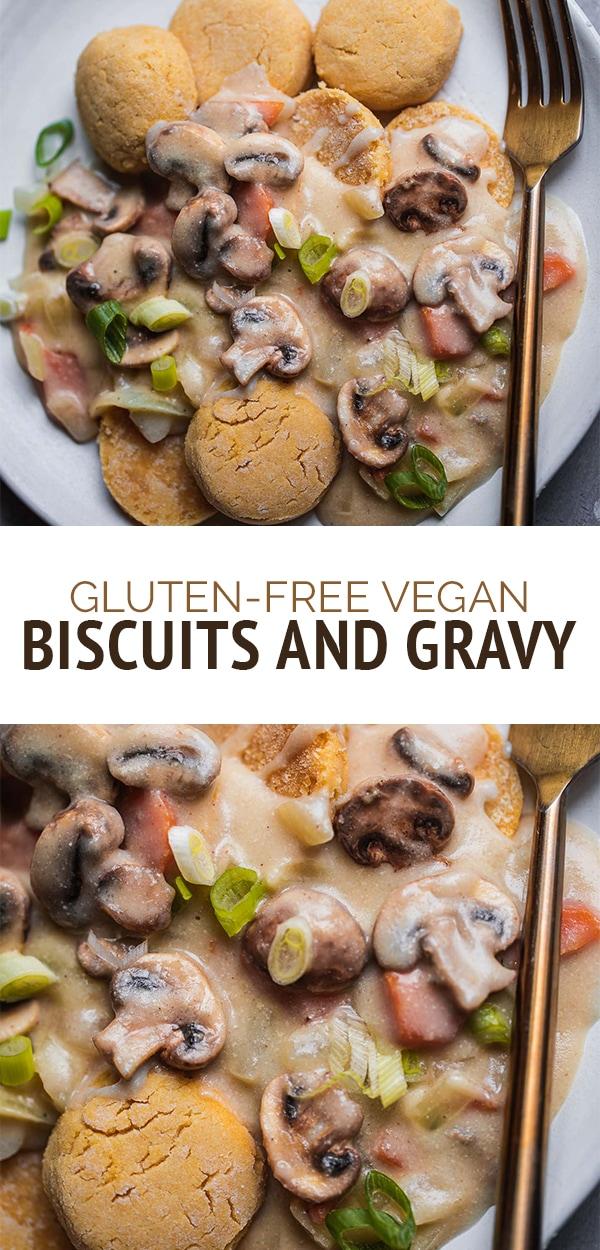 Gluten-free vegan biscuits and gravy