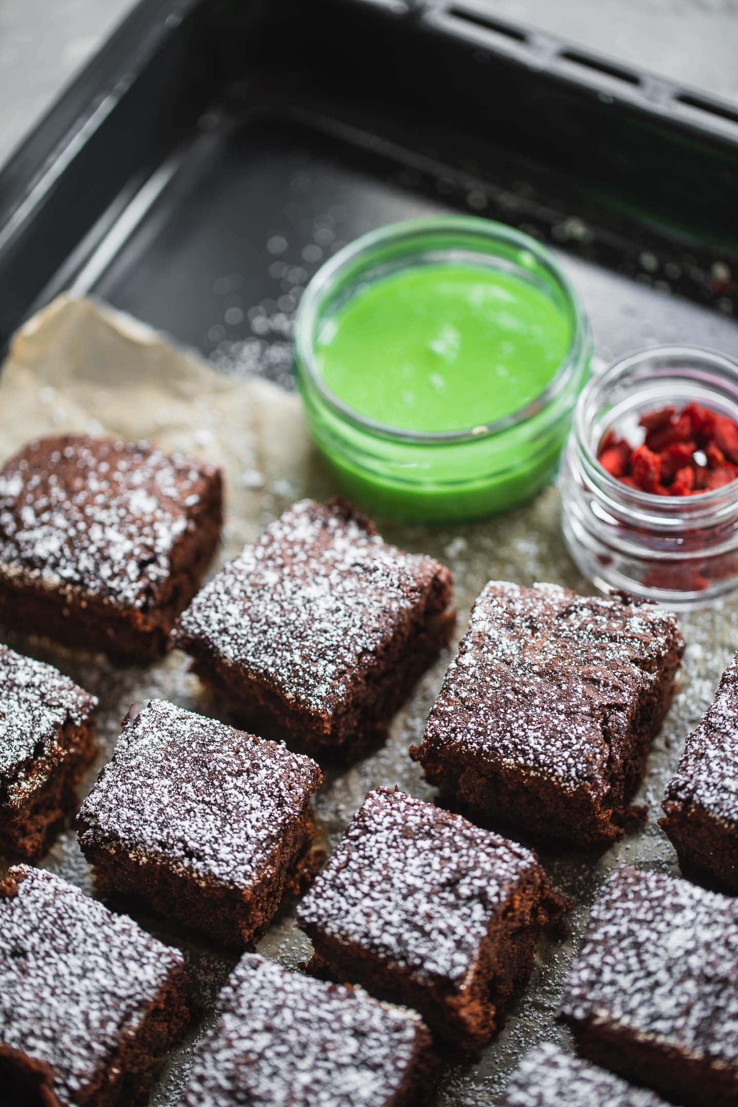 Dairy-free peppermint brownies