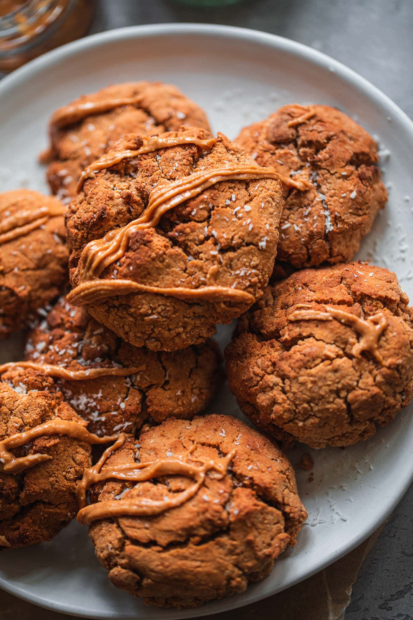 Gluten-free vegan cookies on a plate